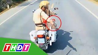 CSGT Lạng Sơn rút súng trấn áp lái xe tải ngoan cố   THDT