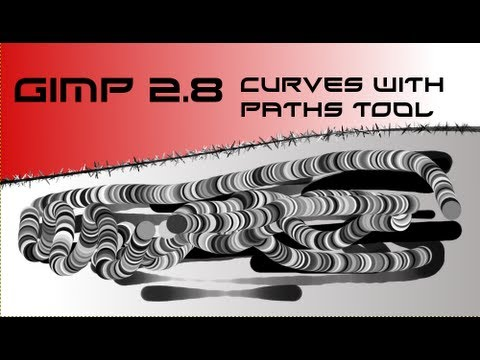 GIMP 2.8 Draw Curves & Paths Tool Effects [HD-1080p]