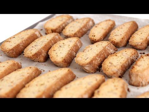 Almond Biscotti Recipe - Laura Vitale - Laura in the Kitchen Episode 557