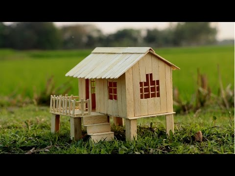 How to Make Popsicle Stick House for Kids