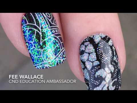 SHELLAC™ Nail Art - Stamp FIRST, THEN apply Lecenté™ Glitter!