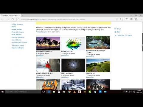 How to Get Latest Themes for Windows 10 Officially for Free | Windows 10 Themes