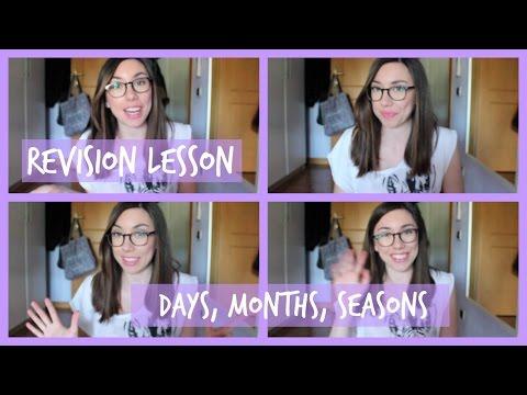 Italian language revision: days, months, seasons (Beginner level) (subtitled)