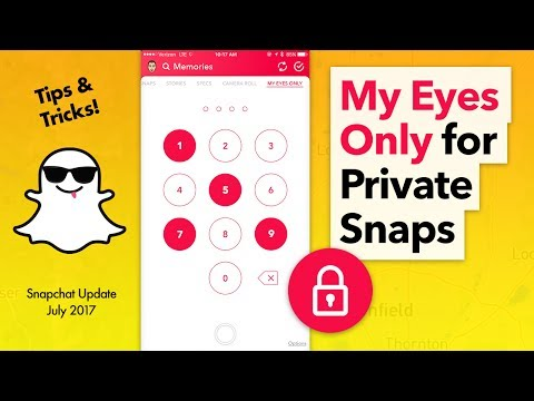 How to Use Snapchat My Eyes Only - Keep Snaps Private