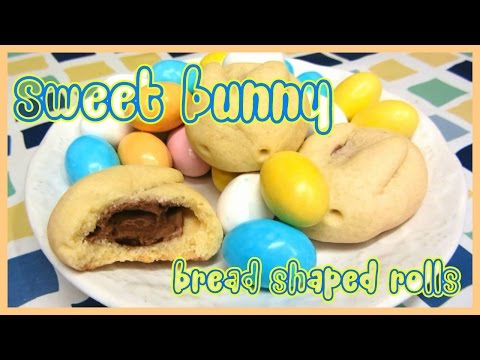 Sweet bunny bread shaped rolls - Easter rabbit cookies