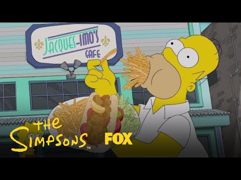 Homer Eats His Way Through New Orleans | Season 29 Ep. 17 | THE SIMPSONS