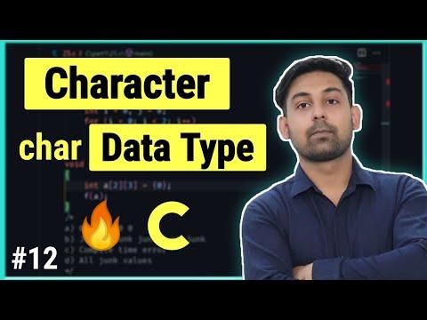 #8.2 Data Type ( Part 2 ) | Char Data Type Full Detail In Hindi | By Nirbhay Kaushik