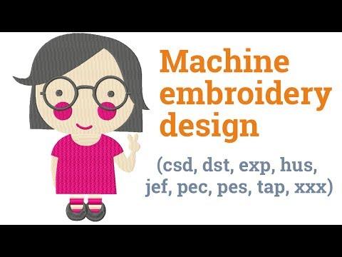 Pretty girl. Machine embroidery design (csd, dst, exp, hus, jef, pec, pes, tap, xxx)