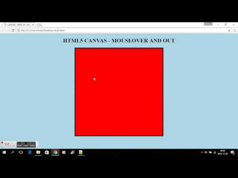 HTML5 CANVAS - PART 16 - MOUSEOVER AND OUT