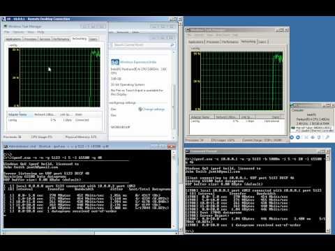 IPERF for Windows - maximum network bandwidth QoS test