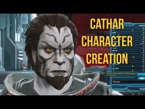 SWTOR Cathar Character Creation (Male) | Game Update 2.1 Customization