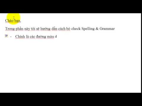 MS Word 2010 - Spelling & Grammar check
