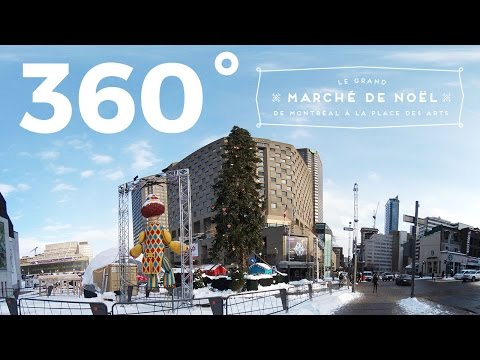Le Grand Marché de Noël de Montréal 360 Video VR