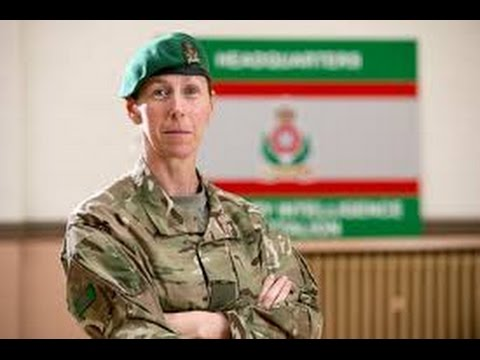 First female British Army Reservist ever to command Intelligence Corps.