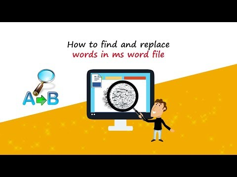 How to find and replace words in ms word file?