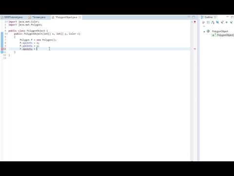 Java Tutorial #3 - 3D From scratch - Drawing polygons