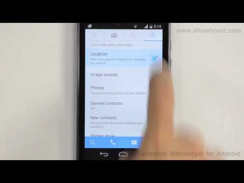 Facebook Messenger For Android - How To Disable Showing Your Location In Messages