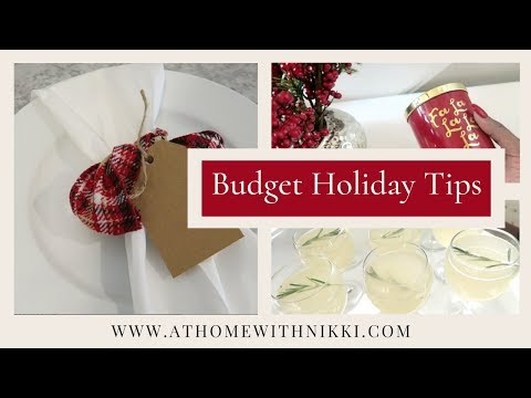 COOK WITH ME PLUS HOLIDAY ENTERTAINING TIPS ON A TIGHT BUDGET