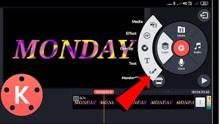 How to Make the Best Monday Text Editing Video from Your Mobile in kinemaster