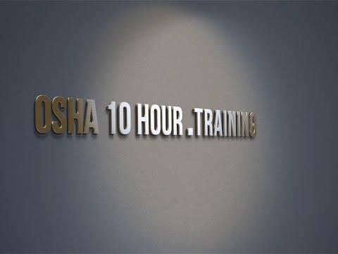 osha 10 hour training demo video
