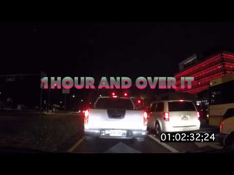 Zipper lane traffic  - Honolulu Hawaii crazy traffic march 31st 2015