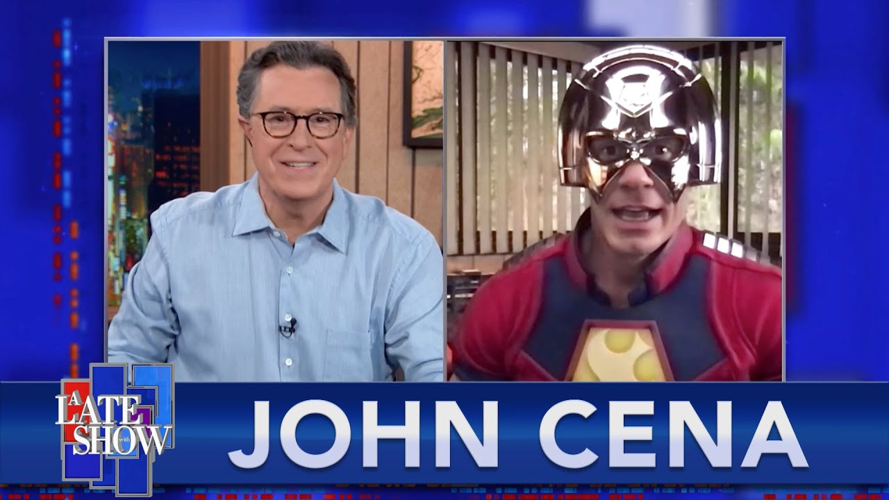 Dressed As Peacemaker, John Cena Confesses His Feelings About John Oliver