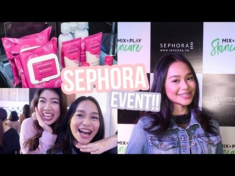Going to Sephora's Mix & Play Skincare Launch! | ThatsBella