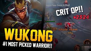 Arena of Valor [Road to Conqueror] #1 MOST PICKED WARRIOR!! Wukong Gameplay