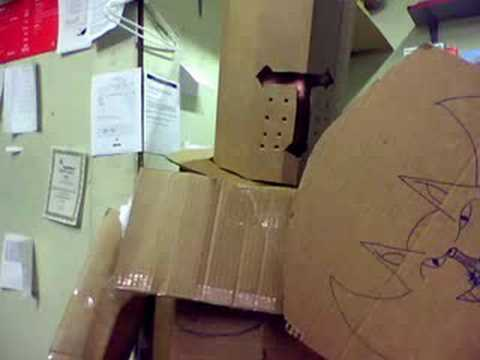 wooden cardboard box man on growing up