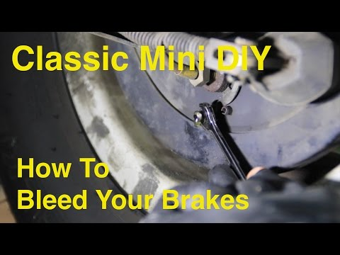 Classic Mini DIY - How to Bleed Your Brakes