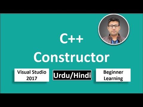 22. C++ in Urdu/Hindi Constructor Beginners Tutorial vs 2017