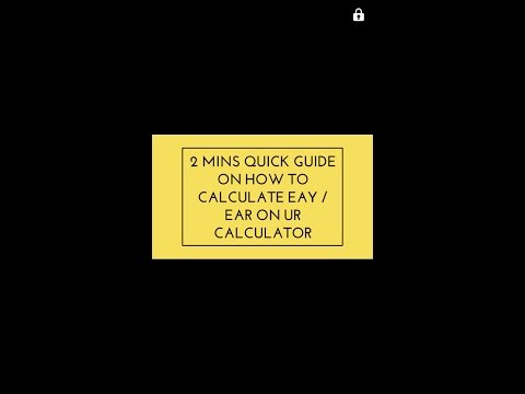 2 MINS QUICK GUIDE ON HOW TO CALCULATE EFFECTIVE ANNUAL RATE (EAR )ON YOUR CFA CALCULATOR