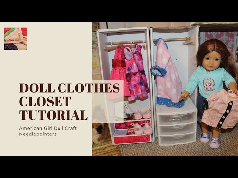 Doll Clothes Closet - How to make a closet for  American Girl Dolls