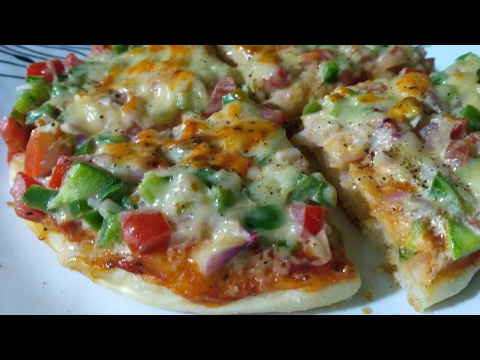 How to make pizza without oven in hindi