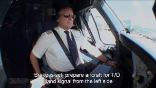 Pilotseye.tv - Lufthansa Airbus A380 Departure and Take Off [English Subtitles]