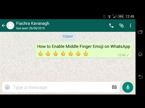 How to Enable Middle Finger Emoji on WhatsApp
