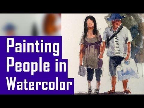 How to Paint People in Watercolor - Beginner Exercises (Watercolor Corner #14)