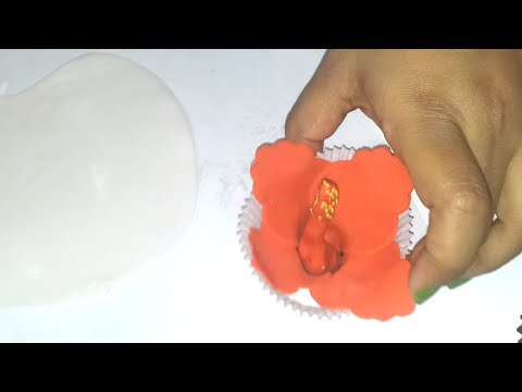 4.How to make a fondant flower Hibiscus