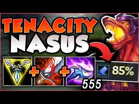 FULL AD NASUS + 85% TENACITY IS LITERALLY UNSTOPPABLE! NASUS SEASON 8 GAMEPLAY! - League of Legends