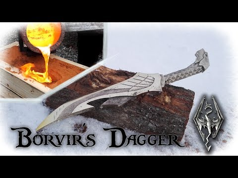 Casting a Aluminum Bronze Dagger From The Game Skyrim (Borvir´s Dagger)