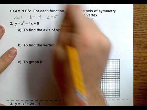 Algebra (Topic 8-1) Graphing Quadratic Functions