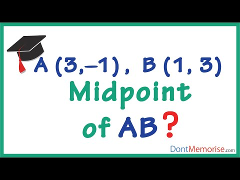 Finding the Midpoint of a Line Segment ( GMAT / GRE / CAT / Bank PO / SSC CGL)