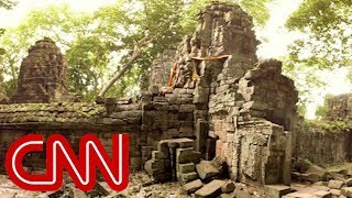 Mysterious temple reemerges in Cambodia - 360 Video