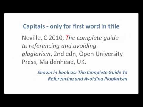 example of referencing a book harvard style