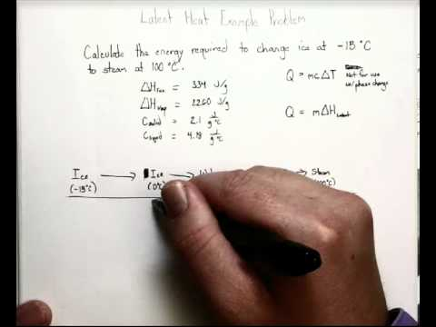 Latent Heat Calculations Practice
