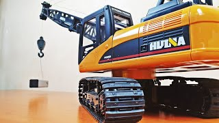 Unboxing Crawler Crane Tracked Excavator RC Huina 1572 572 scale 1/14 TEST Construction Site