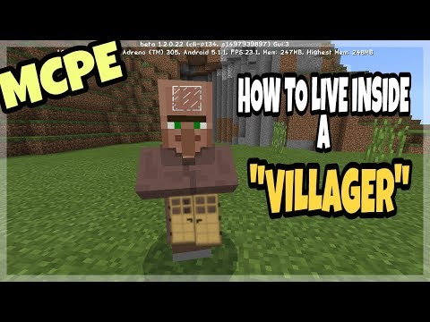 How To Live Inside Of A Villager - Minecraft Pocket Edition