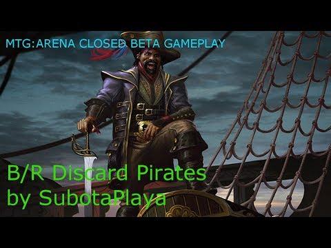 MTG Arena Closed Beta Gameplay - Discard Pirates
