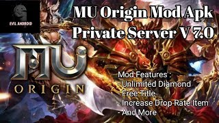 MU Origin-TH v7 0 3 Menu Mod | Unlock Vip | Speed Multiplier