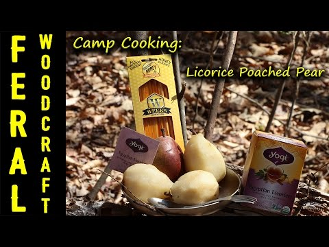 Camp Cooking Dessert: Licorice Poached Pear